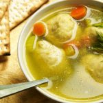 Mom's Kosher Matzoh Ball Soup as seen on The Jewish Kitchen website