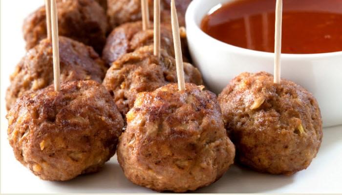 Mini Sweet & Sour Meatball Appetizers