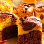 Chocolate Pumpkin Brownies as seen on The Jewish Kitchen website