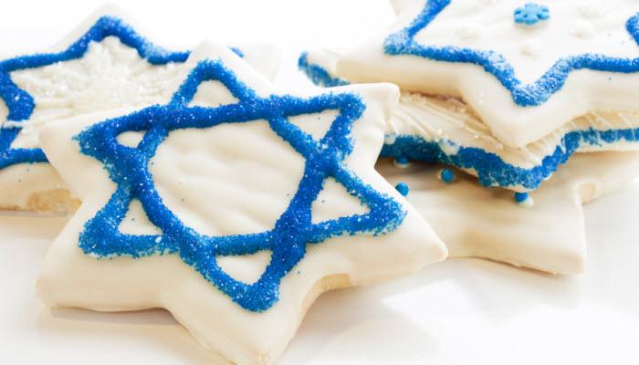 Iced Chanukah Cookies