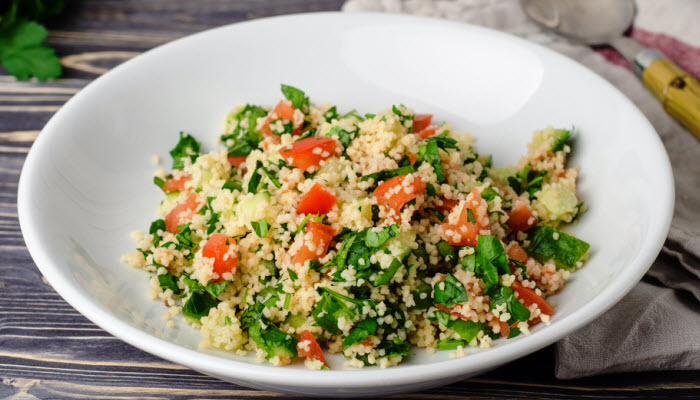 Couscous with Spinach, Onions and Tomatoes – Healthy Option