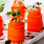 Carrot and Hummus Roll Ups as seen on The Jewish Kitchen website