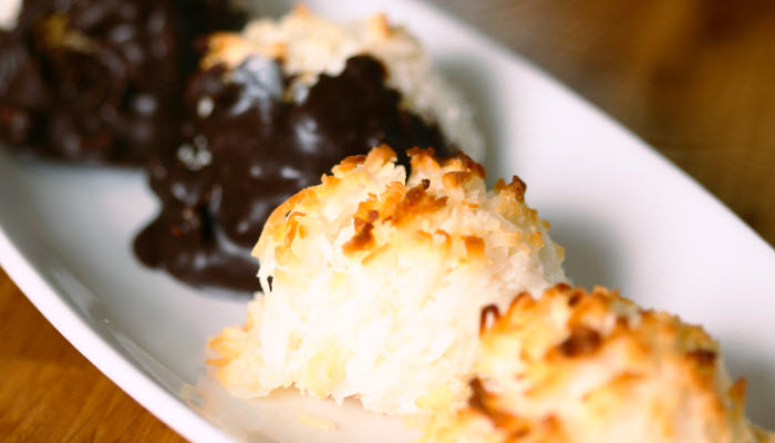 easy coconut macaroons from The Jewish Kitchen