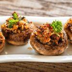Lisa's Stuffed Mushroom Appetizers as seen on The Jewish Kitchen website