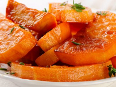 glazed sweet potatoes from The Jewish Kitchen