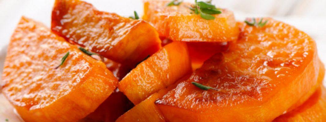 glazed sweet potatoes from The Jewish Kitchen