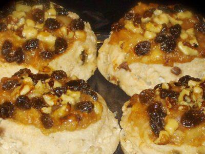 apple raisin and walnut danish from The Jewish Kitchen