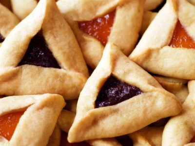 raspberry and apricot hamantaschen from The Jewish Kitchen