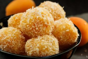evy's apricot coconut balls from The Jewish Kitchen