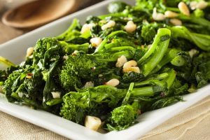 broccoli rabe with garlic from The Jewish Kitchen