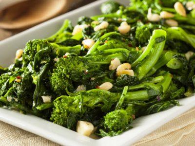 broccoli rabe with garlic from The Jewish Kitchen