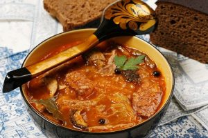 cabbage soup with flanken from The Jewish Kitchen