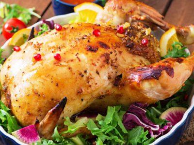 rice stuffed chicken from The Jewish Kitchen
