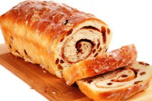 iced cinnamon raisin bread from The Jewish Kitchen