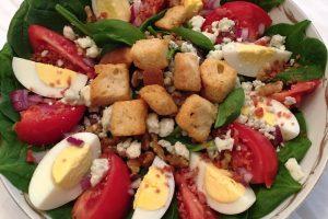 kosher spinach salad from The Jewish Kitchen