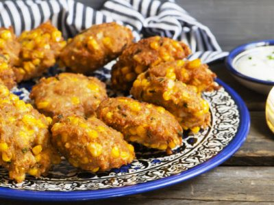 easy corn fritters from The Jewish Kitchen
