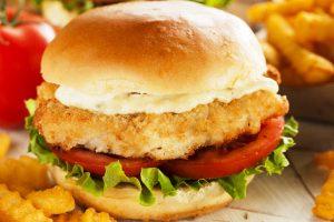 fried fish sandwich from The Jewish Kitchen