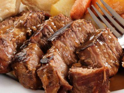 glazed beef brisket from The Jewish Kitchen