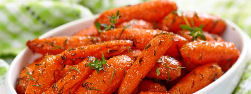honey roasted carrots from The Jewish Kitchen