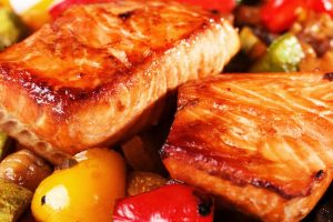 honey soy broiled salmon from the Jewish Kitchen