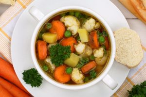 light vegetable soup from The Jewish Kitchen
