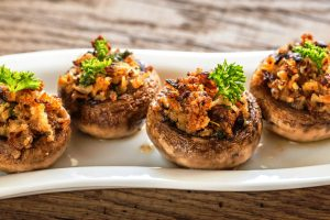lisas stuffed mushroom appetizers from The Jewish Kitchen