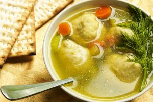 mom's kosher matzoh ball soup from The Jewish Kitchen