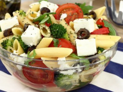 pasta with tomatoes and feta from The Jewish Kitchen