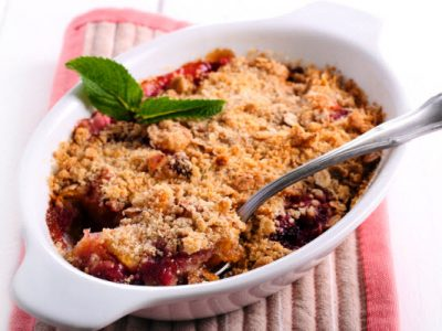 peach berry crisp from The Jewish Kitchen