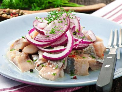 chopped pickled herring from The Jewish Kitchen