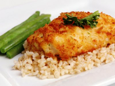 fish with potato crust from The Jewish Kitchen