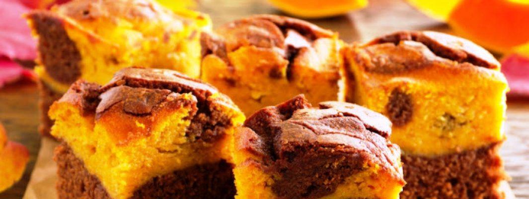 chocolate pumpkin brownies from The Jewish Kitchen