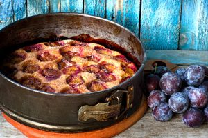 purple plum torte from The Jewish Kitchen