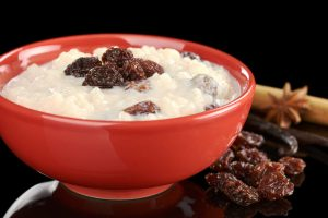 rice pudding with raisins from The Jewish Kitchen