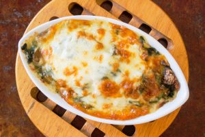 spinach cheese bake from The Jewish Kitchen