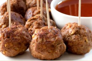 mini sweet and sour meatballs from The Jewish Kitchen