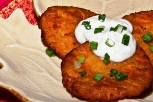 perfect sweet potato latkes from the Jewish Kitchen