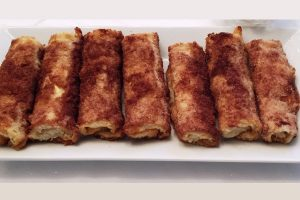 white bread cheese blintzes from The Jewish Kitchen